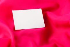 röd silk white för anmärkningspapper Fotografering för Bildbyråer