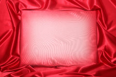 Röd silkeslen inbjudan Royaltyfria Bilder