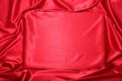 Röd silkeslen inbjudan Arkivfoto