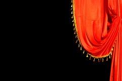 Röd skärm för etapp Royaltyfri Foto