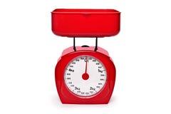 Röd skala för vikt Royaltyfri Fotografi