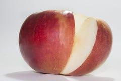 röd skiva för äpple Royaltyfri Foto
