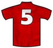Röd skjorta fem Fotografering för Bildbyråer