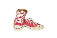 Röd sko för tappning Arkivbild