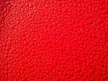 Röd skrynklig textur Arkivbilder