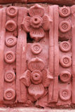 Röd skulptur Arkivbilder