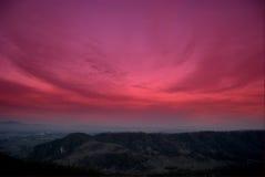 röd sky arkivfoto