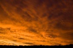 röd sky Arkivbilder