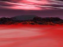 röd sky Fotografering för Bildbyråer