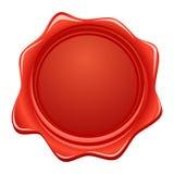 röd skyddsremsavektorwax Royaltyfri Fotografi