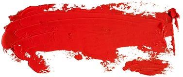 Röd slaglängd för borste för fläck för oljatexturmålarfärg arkivfoton