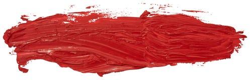 Röd slaglängd för borste för fläck för oljatexturmålarfärg, royaltyfri illustrationer