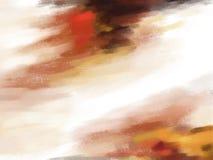Röd slaglängd för borste för olje- målarfärg Arkivfoto