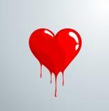 Röd smältande hjärta med droppar Royaltyfria Foton