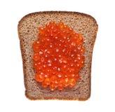 röd smörgås för kaviar Royaltyfri Bild