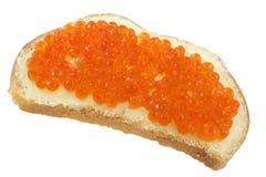 röd smörgås för kaviar Royaltyfria Bilder
