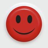 röd smiley Royaltyfri Foto