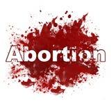 Röd smutsig fläck för abort Arkivbild