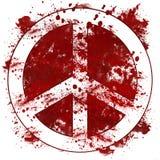 Röd smutsig fläck för fredtecken Fotografering för Bildbyråer