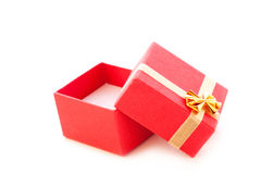 Röd smyckenask Royaltyfria Foton
