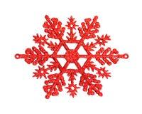 Röd snowflake Royaltyfri Fotografi