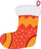 röd socka för jul Royaltyfri Illustrationer