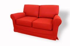 röd sofa Royaltyfri Bild