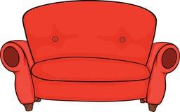 Röd soffa Arkivfoton