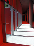 röd solljuswhite Arkivfoto
