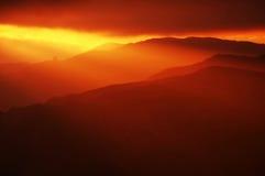 röd solnedgång Arkivbilder