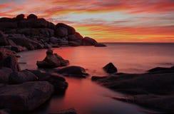 röd solnedgång royaltyfri foto