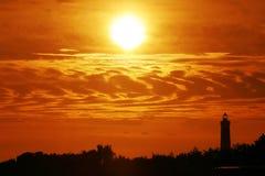 röd solnedgång fotografering för bildbyråer