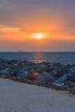 Röd solnedgång och cloudscape Royaltyfria Foton