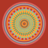 Röd solrosmandala. illustration Fotografering för Bildbyråer