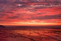 röd soluppgång Royaltyfri Fotografi