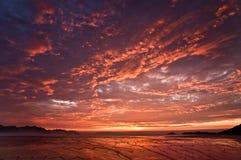 röd soluppgång Arkivbild