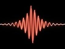 röd sound wave Arkivfoton