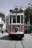 Röd spårväg i Istanbul Arkivfoton