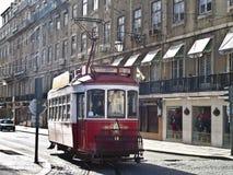 röd spårvagn Royaltyfria Bilder