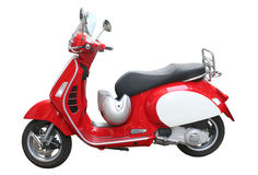 röd sparkcykel Fotografering för Bildbyråer