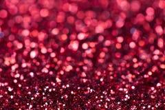 röd sparkle för bakgrund ljust och festligt Begrepp för St-valentin` s av hälsningen Storen specificerar! royaltyfria bilder