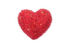 Röd sparkling hjärta Arkivbild