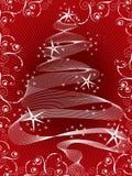 röd sparkling tree för jul vektor illustrationer