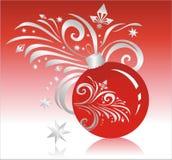 röd sphere Arkivfoton
