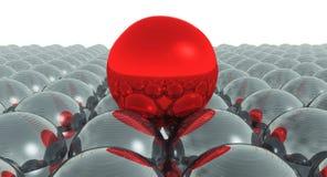 röd sphere Arkivbilder
