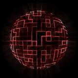 röd sphere Arkivbild