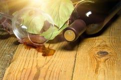 röd spilld wine Royaltyfri Bild