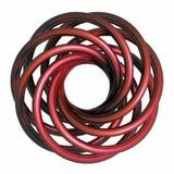 röd spiral wave för metall Royaltyfri Fotografi