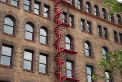 Röd spiraltrappuppgång Royaltyfri Foto