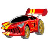 Röd sportbil Royaltyfria Bilder